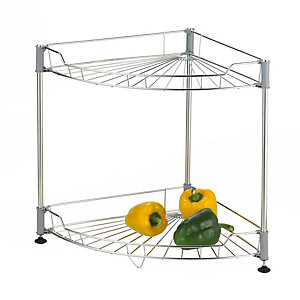 Medium Stainless Steel Curved Shelf Unit