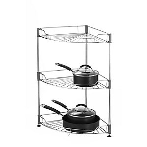 Large Stainless Steel Curved Shelf Unit