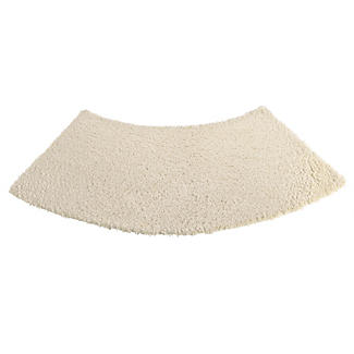Large Curved Shower Mat - Natural