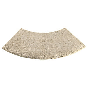 Large Curved Shower Mat - Latte