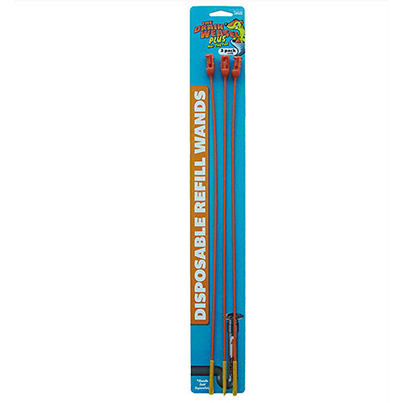 Drain Weasel Disposable Refill Wands 3-pack