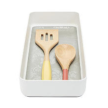 Stay Put Drawer Organiser Individual Utensil Tray - Large White