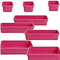 8-Piece Interlocking Bin Set Pink
