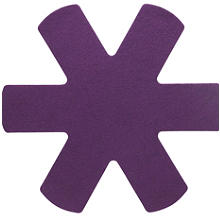3 Anti Scratch Kitchen Pan Protectors - Purple