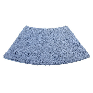 Blue Curved Shower Mat