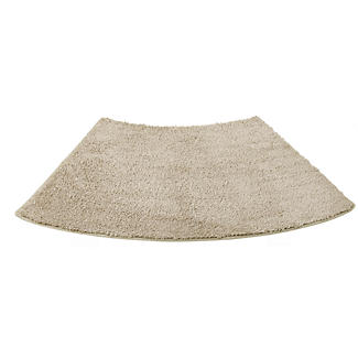 Standard Curved Shower Mat Latte