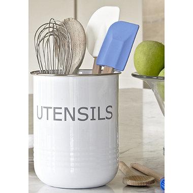 White Utensil Pot In Kitchen Organisers At Lakeland
