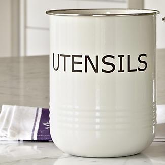 Cream Utensil Pot