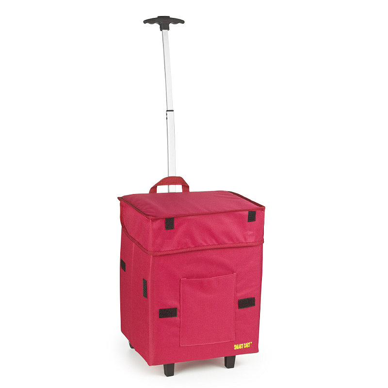Smart Cart Waterproof Storage on Wheels Red 30L