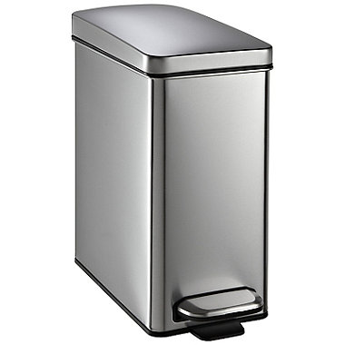 simplehuman Carrier Bag Recycle Pedal Bin - Silver 10L