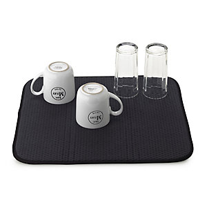 Diamond Dish Drying Mat For Glasses & Cups - Black