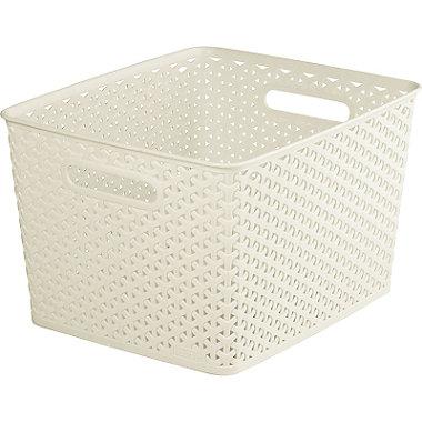 Square Faux Rattan Storage Basket