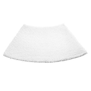 White Curved Shower Mat
