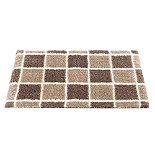 Cappuccino Check Bathroom Mat