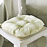 Soft Green Check Kitchen Chair Cushion
