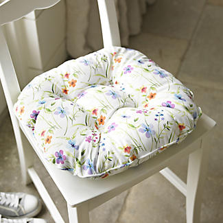 Wild Flower Kitchen Chair Cushion Lakeland