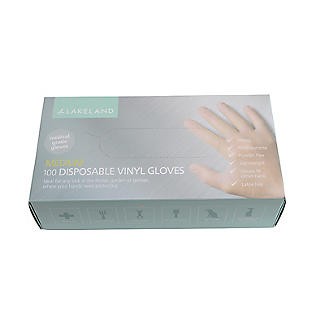 100 Medium Disposable Vinyl Gloves alt image 2