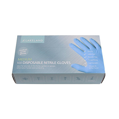 100 Medium Disposable Nitrile Gloves