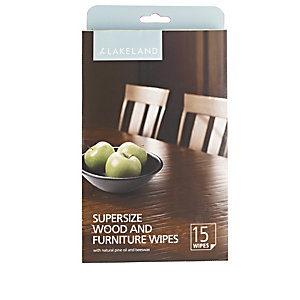 15 Supersize Wood and Furniture Wipes
