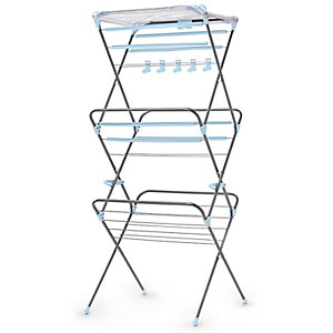 Deluxe Easy Up Concertina Indoor Clothes Airer 15m