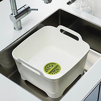 Joseph Joseph® Wash & Drain Washing Up Bowl & Draining Plug - Grey alt image 3
