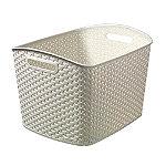Extra Large Faux Rattan Storage Basket