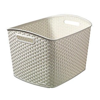 Extra Large Faux Rattan Storage Basket