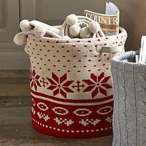 Winter Knit Storage Tote