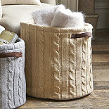 Sand Knitted Tote