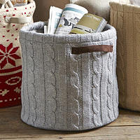 Cosy Cable Storage Tote - Grey