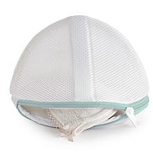 2 White Mesh Net Washing Bags For Bras - To Size D