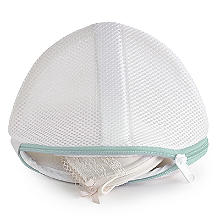 2 White Mesh Net Washing Bags For Bras - To Size GG