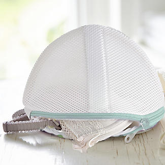 2 White Mesh Net Washing Bags For Bras - To Size GG alt image 2