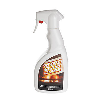Wood Burning Stove Glass Cleaner Spray 500ml alt image 1