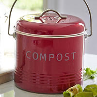 Lakeland Food Compost Bin - Red 3.5L