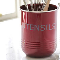 Red Utensil Pot