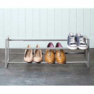 Extending and Stackable Steel Shoe Rack Silver alt image 5