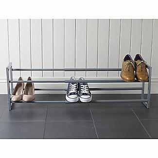 Extending and Stackable Steel Shoe Rack Silver alt image 6