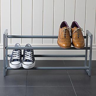 Extending and Stackable Steel Shoe Rack Silver alt image 7