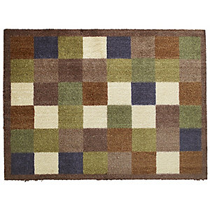 Hug Rug Non Slip Indoor Floor & Door Mat Tiles - 80 x 60cm