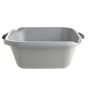 Square Washing-Up Bowl Grey