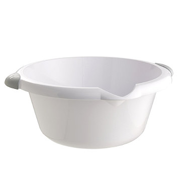 Round Washing-Up Bowl White