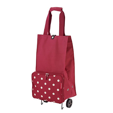 Ruby Dots Foldable Shopping Trolley