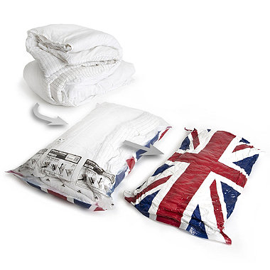 2 Pack-Mate® Union Jack Flat Vac Bags Extra Large