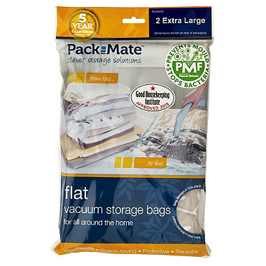 2 Pack-Mate®  Anti Mould Flat Vac Bags Extra Large
