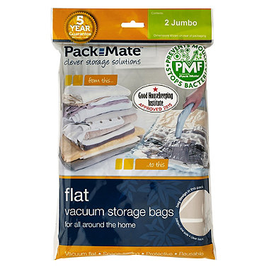 2 Pack-Mate®  Anti Mould Flat Vac Bags Jumbo