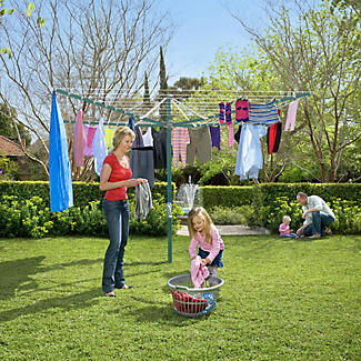 Hills® Rotary 8 Washing Line – Forest Glade Green  alt image 2