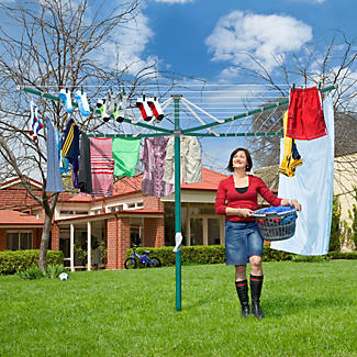 Hills® Rotary 7 Washing Line – Forest Glade Green  alt image 2