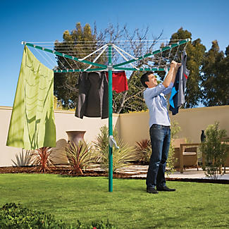 Hills® Rotary 6 Washing Line – Forest Glade Green alt image 2