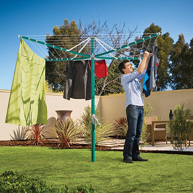 Hills® Rotary 6 Washing Line – Green
